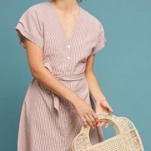 Anthropologie dRA Terracotta Textured Dress